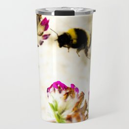 the flight of bumble bee on the dunes I Travel Mug