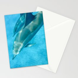 Swimming with Dolphins Stationery Cards