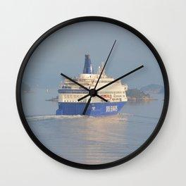 Copenhagen To Oslo Ferry Wall Clock
