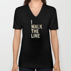 I Walk The Line Unisex V-Neck