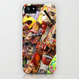 Colorful Masks iPhone Case