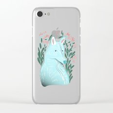 Wolf Portrait Clear iPhone Case