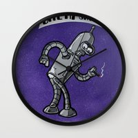 bender Wall Clocks featuring Bender! by RISE Arts