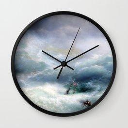 Ivan Aivazovsky - The Wave Wall Clock