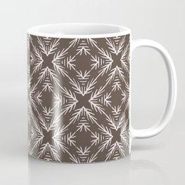 Winter Rustic Fir Branch Lino Cut Texture Sketchy Coffee Mug