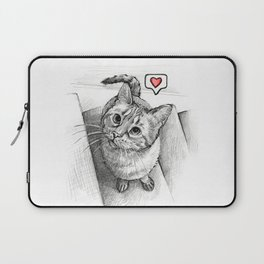 Cute Kitty Cat - Love Me Laptop Sleeve