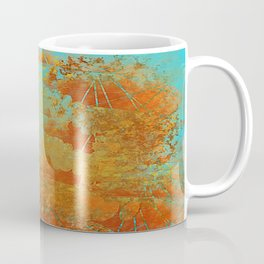 Turquoise and Copper-Red Coffee Mug