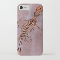 squid iPhone & iPod Cases featuring Squid by Jennifer Leedy Steiner