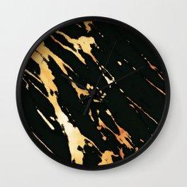 Black Copper Bronze Marble Wall Clock