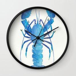 Watercolour lobster Wall Clock