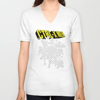 x men V-neck T-shirts featuring Ctrl-X Men by Faniseto