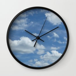 Blue Summer Sky // Cloud Photography Wall Clock