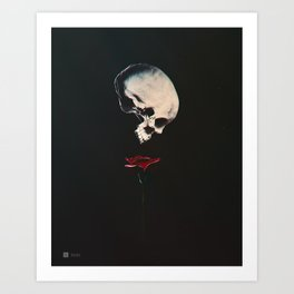 Rosenrot Art Print