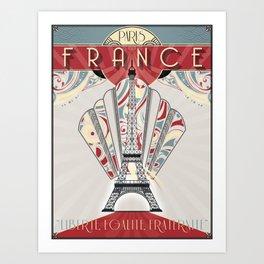 Paris France Travel Poster Art Print