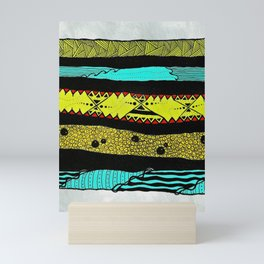 Sideways abstract  Mini Art Print