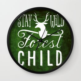 forest child Wall Clock