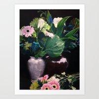Flowers in Vases Art Print