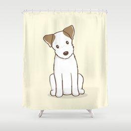 Custom Art Abby the JRT Illustration Shower Curtain