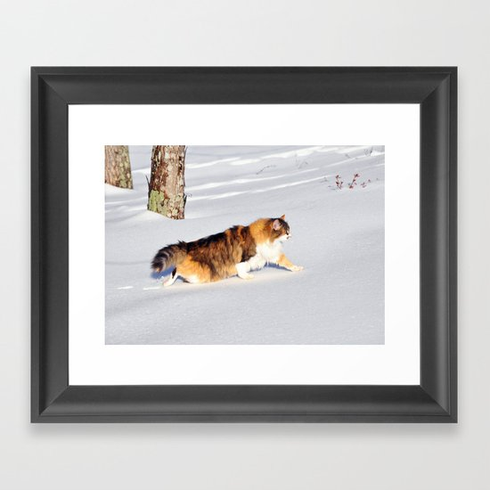 Makin' Tracks Framed Art Print