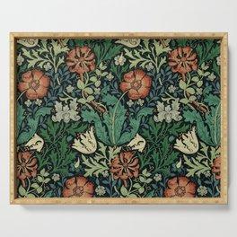 William Morris Compton Floral Art Nouveau Pattern Serving Tray