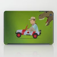 jurassic park iPad Cases featuring Jurassic Park by DWatson