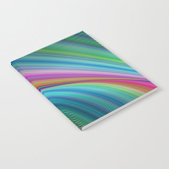 Colorful distortion Notebook
