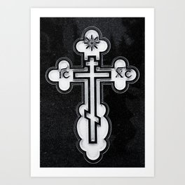Russian Greek Orthodox Cross Art Print