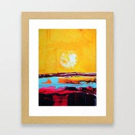 Abstract Landscape - My Moon Framed Art Print