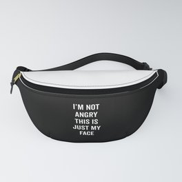 Angry Face Funny Quote Fanny Pack
