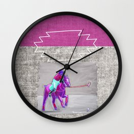 poloplayer grey-mauve Wall Clock