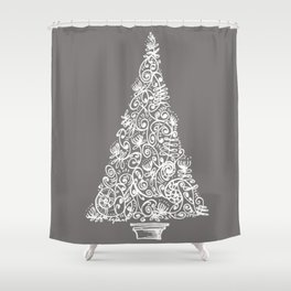 A Christmas tree in New Zealand Shower Curtain