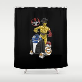Beastie Droids Shower Curtain