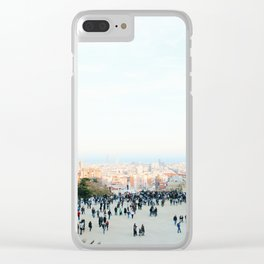 People at Park Güell Clear iPhone Case