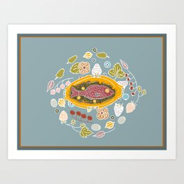 Dinner Table Wake Art Print