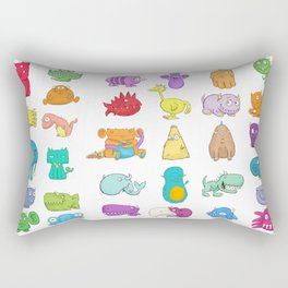 Furrry Monsters Rectangular Pillow