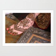 Bridal Henna Art Print