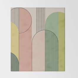 Abstract Arches I Throw Blanket