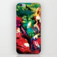 avenger iPhone & iPod Skins featuring Color Avenger! by Jesus De La Mora