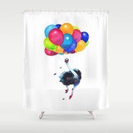 Ostrich can Fly Shower Curtain