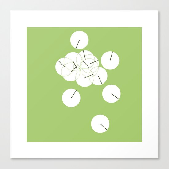 #250 Ping pong – Geometry Daily Canvas Print