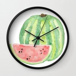 Watermelon Watercolour  Wall Clock