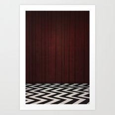 Black Lodge / Red Room Twin Peaks Art Print
