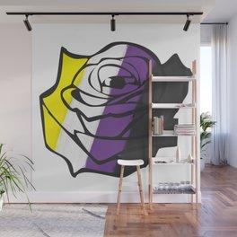 Enby Rose Wall Mural