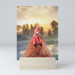 Rise and Shine - Whimsical rooster series #1 Mini Art Print