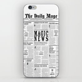 The Daily Mage Fantasy Newspaper iPhone Skin