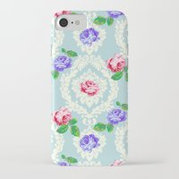 shabby chic iPhone & iPod Cases featuring Shabby Chic Rose Pattern by Figen Topbas
