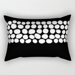 Soft White Pearls on Black Rectangular Pillow