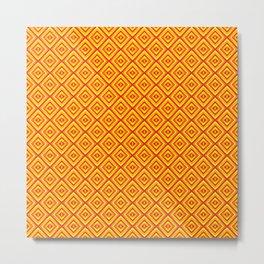 Orange Diamonds Metal Print