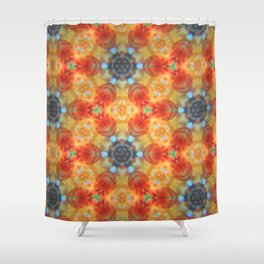 Orange Blossom and Blue Jeans Shower Curtain