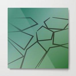 design exotic bio Blocks - green, ethno Metal Print